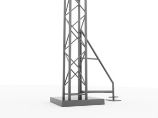 Column stage construction rendered isolated