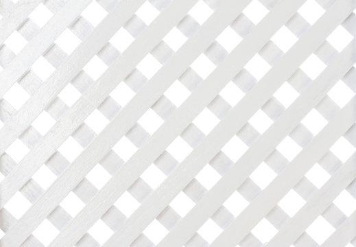 White wooden lattice for background