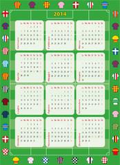 calendario 2014 calcio