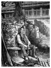 Peasant Sitting - 19th century