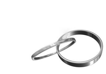 anneaux argents 3D