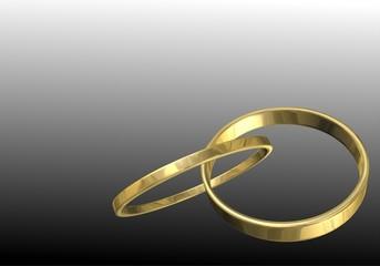anneaux or fond dégradé