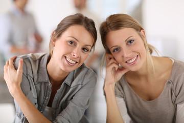 Portrait of working girls in office