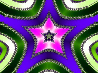 Collared fractal star