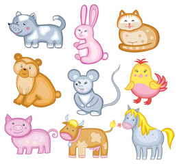 set of vector animal (isolated on white background)