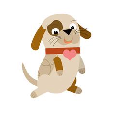 Cartoon dog - illustration for the children