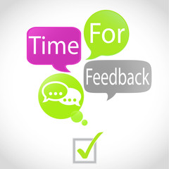 bulles vert fuchsia : time for feedback (anglais)