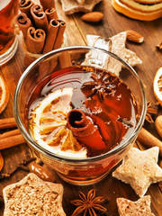Deurstickers Marokko Winter drink