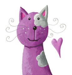 Cute purple cat