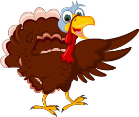 Funny Turkey Cartoon Posing