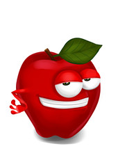 Cool apple cartoon