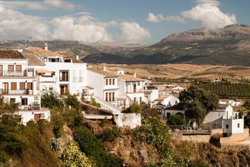 View of white city Ronda