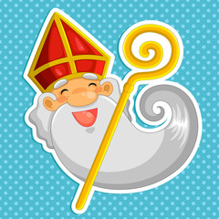 cartoon Sinterklaas (st. nicolas)