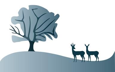 Roe deer landscape