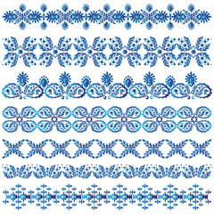 blue ottoman serial patterns three