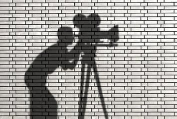 ombre de cameraman