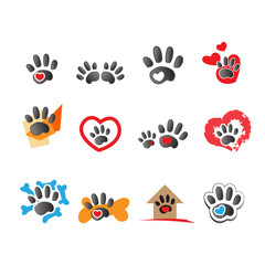 Cat And Dog Icons - Isolated On White Background