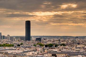 Fototapete - Paris skyline with Maine-Montparnasse Tower