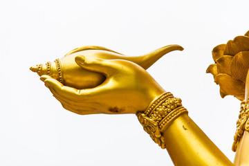 hand of wisnu or narayana statue in huytungtao chiangmai Thailan
