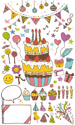 誕生日イラスト2 Stock Image And Royalty Free Vector Files On