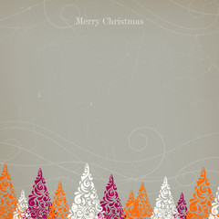 Vector Illustration of an Abstract Christmas Background