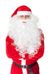Santa Claus standing with hands folded against