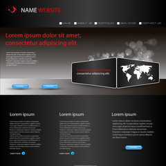 Vector website template for busines