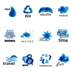 Different Icons Set - Isolated On White Background