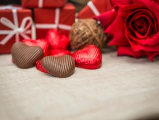 Love sweet heart shaped chocolates
