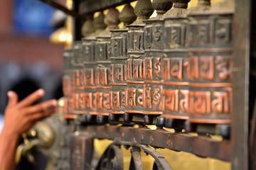 Wall Murals Nepal Prayer wheels