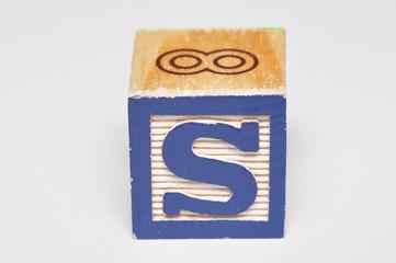 Alphabet block S