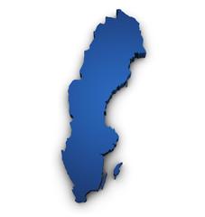 Map Of Sweden 3d Shape