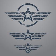 Military style emblem set