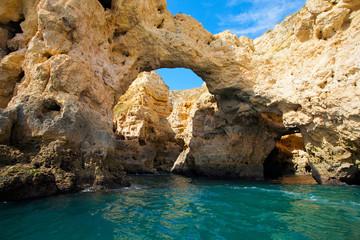 Wall Mural - Grotte und Klippen in der Algarve Portugal