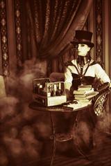 books and smoke