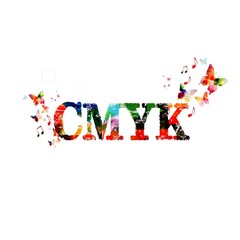 Colorful vector CMYK background with butterflies