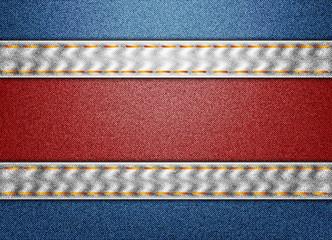Denim Costa Rica flag