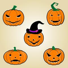 Halloween Pumpkins icon set