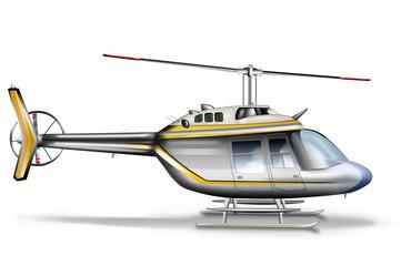 Hubschrauber, Hilokopter freigestellt