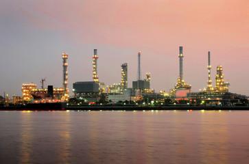 Oil Refinery on twilight