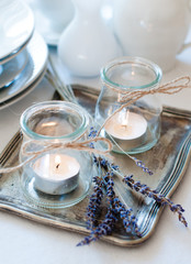 Provence style table setting