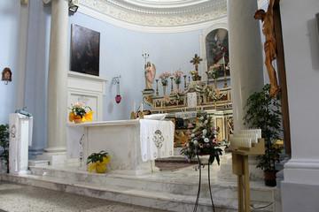 Altar in Church, South Italy