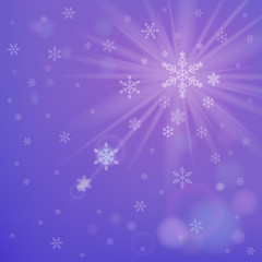 Abstract purple winter background