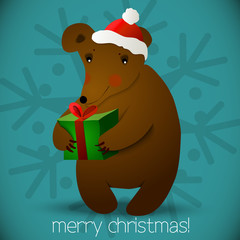Christmas bear background