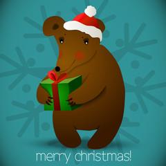 Christmas bear background