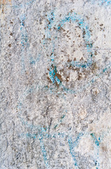 texture or background wall of shabby paint and plaster cracks