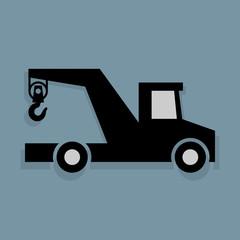 Transportation icon or sign, vector illustration