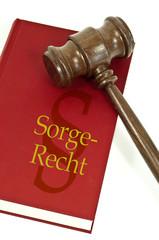Richterhammer mit Buch und Sorgerecht