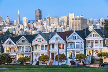 Foto op Canvas San Francisco The Painted Ladies of San Francisco