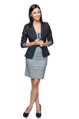 Successful businesswoman in full length